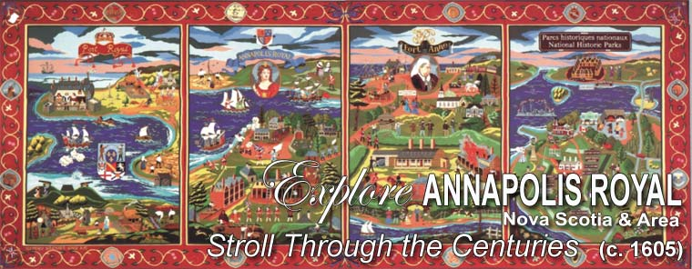 Fort Anne Heritage Tapestry in Annapolis Royal